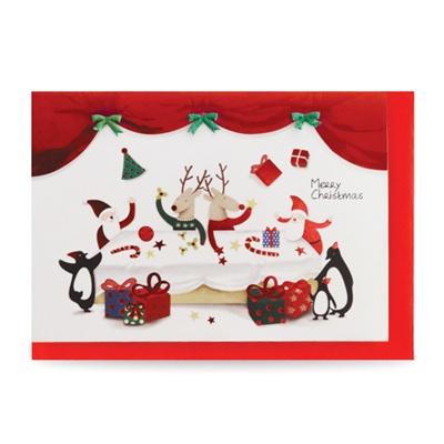 크리스마스카드/성탄절/트리/산타 이브날 저녁 식사 (FS1021-1)