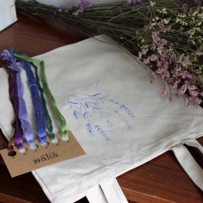 101도 프랑스자수 DIY 에코백 만들기 라벤더
