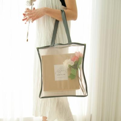 메쉬 숄더백 가방(연청색)