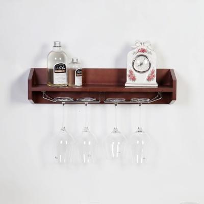 우드 밀라노 디자이너 와인잔걸이 벽선반 600-웬지