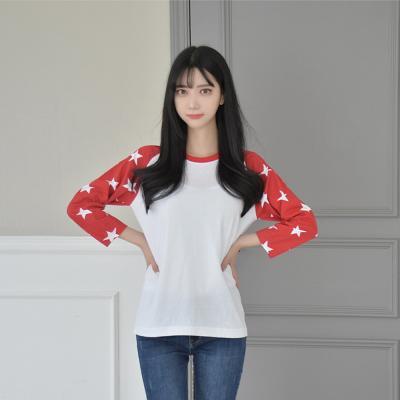반짝 스타 7부 래글런 티 (3 colors) 티셔츠