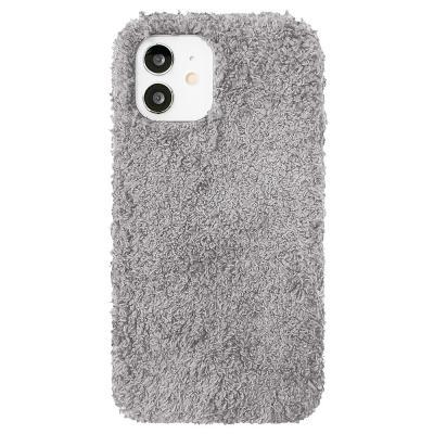 P571 아이폰12미니 뽀글이 심플 컬러 젤리 케이스