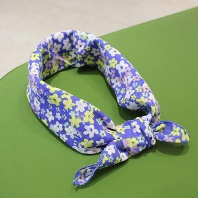 미니 스카프 - 손수건 (바다옆 꽃길)