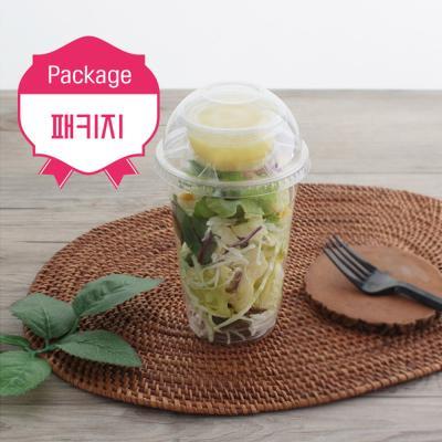 컵샐러드패키지(포크+샐러드컵16온스+소스통)