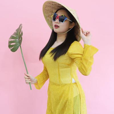 베트남 아오자이 의상 L (옐로우)
