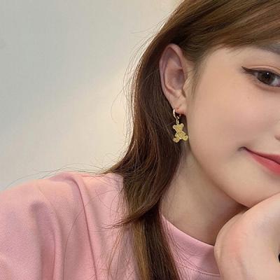 링베어 골드 곰모양 귀여운 귀걸이