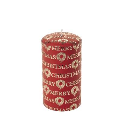 [페르니시] 메리크리스마스 데코 캔들 - 레드 (15cm)