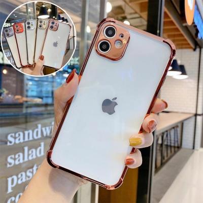 아이폰11 프로 맥스/렌즈보호 컬러 투명 젤리 케이스