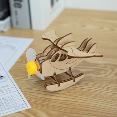 [돌고래 비행기] DIY 어린이 코딩 조립 나무 장난감