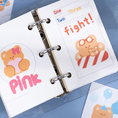 아기 곰 시리즈 미니북 스티커 50매 다꾸용품