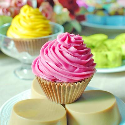 [다빛천연비누/mp비누] 딸기 컵 케이크 비누 (4가지)
