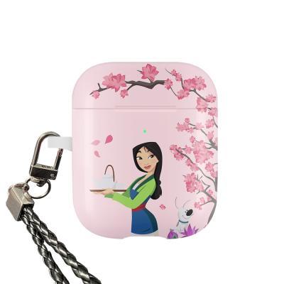 디즈니 프린세스 뮬란 에어팟 케이스 고리형 핑크