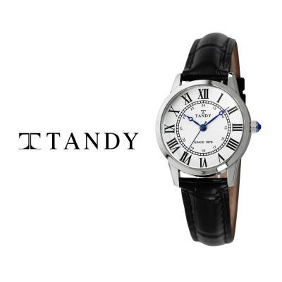 탠디 클래식 커플 가죽 손목시계 T-1714 여자 화이트