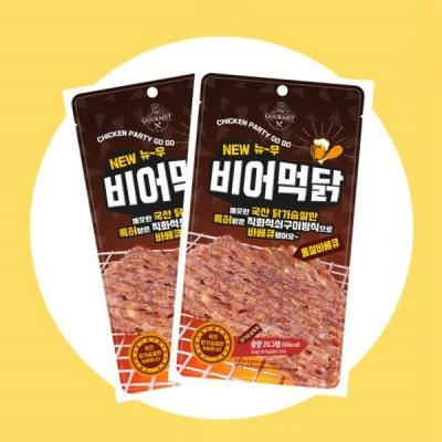 [최저가] 닭가슴살 육포! 비어먹닭 10봉