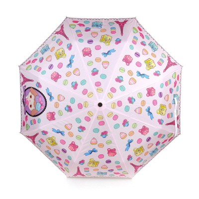 마카롱 패턴 3단자동 우산