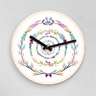 동글작가 꽃동글이 무소음아크릴벽시계 (42760)