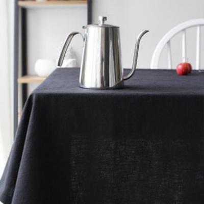바이오워싱 퓨어린넨 테이블커버 - 그레이&블랙계열 (5color)