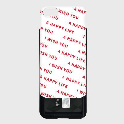 패턴 I WISH YOU A HAPPY LIFE 카드슬라이드 케이스