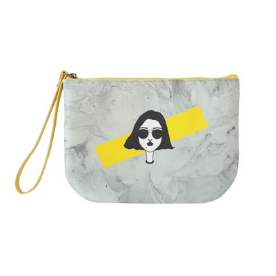 HALF MOON POUCH YELLOW