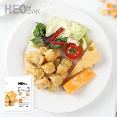 [허닭] 닭가슴살 한입 큐브 치즈 100g