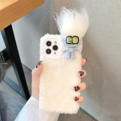 아이폰 XR XS MAX 트롤 인형 뽀글이 털 실리콘 케이스