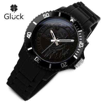 [Gluck]글륵 행운의 시계 GL1313-BK 본사정품 남여공용