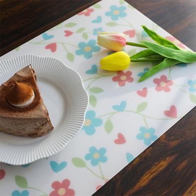 [원더스토어] 방수 TPU 테이블 식탁 매트 플라워패턴