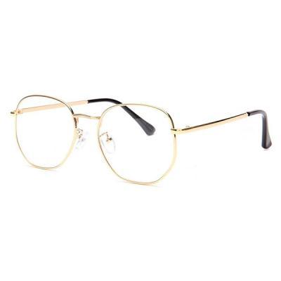 shine 육각 골드 얇은테 안경 금속테안경 메탈안경