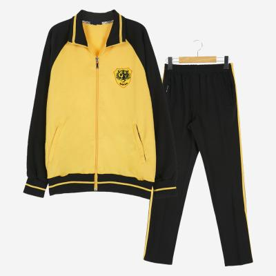 [교복아울렛] 블랙 옐로우 라인 체육복 세트 (백신중)