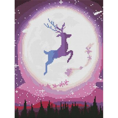 달빛 사슴 (캔버스형) 보석십자수 30x40