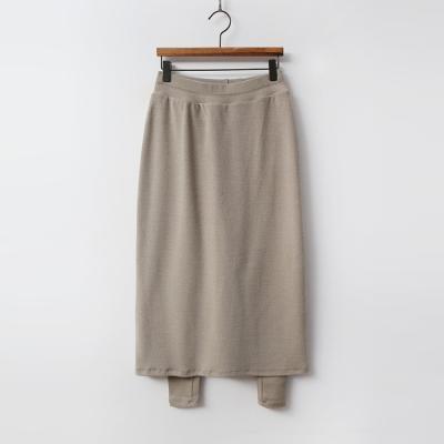 Warm Peach Long Skirt Leggings