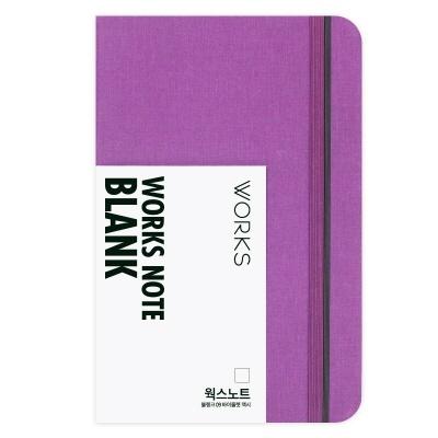 [무료 이니셜각인]웍스 노트 블랭크 09 바이올렛 맥시