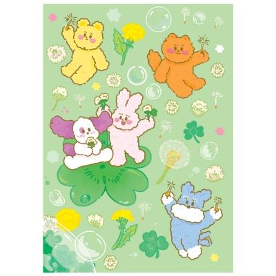 [뽐뽐스튜디오] 토끼풀 시리즈 일러스트 포스터