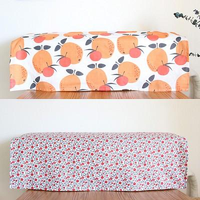 오렌지&플라워 벽걸이 에어컨커버(덮개형)(택1)