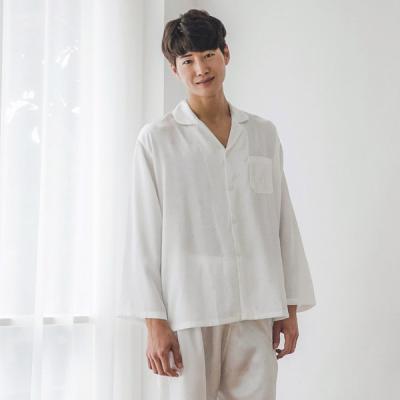 [쿠비카]하트 쟈카드 은사실선 남성잠옷 BNBR-M062