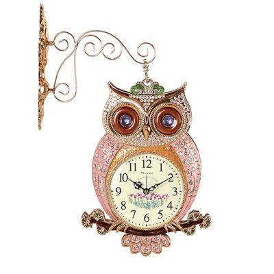 인테리어 SHINE OWL 양면 벽시계 골드CH1582874