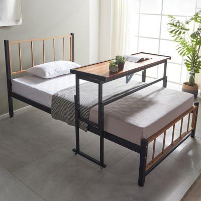 심플라인 철제 슈퍼싱글침대 +각도조절 테이블
