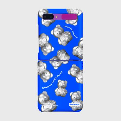 STEEL COVY PATTERN-BLUE(Z플립-하드)