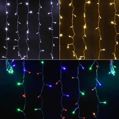LED 200P 커튼 투명선 (웜/백색/칼라)