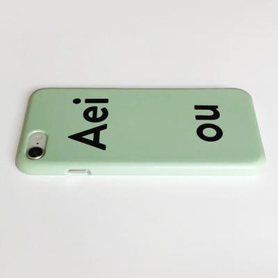 아에이오우 아이폰케이스_Aeiou pale blue green