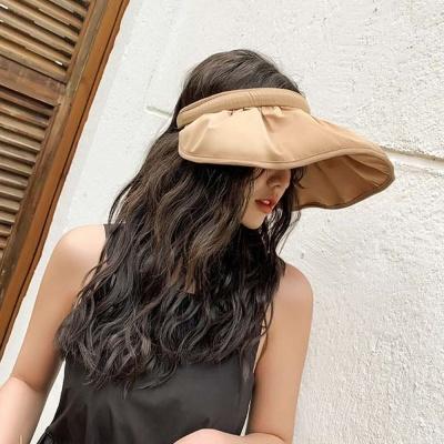 여자 여성 여름 자외선 차단 챙넓은 모자 선택 브라운