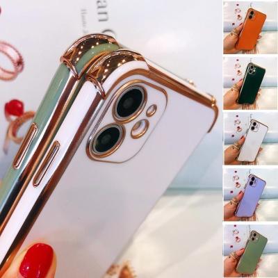 아이폰 se2 8 7 + 골드핏 테두리 컬러 젤리 폰 케이스