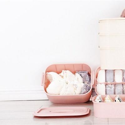 핑크 3단 속옷정리함 해외여행 캠핑