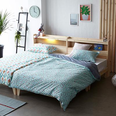 인터데코 패밀리 원목조명 SS+SS 침대 OT022