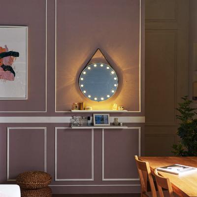 [Ldlab] 시크릿 LED 원형 스트랩 벽걸이 거울