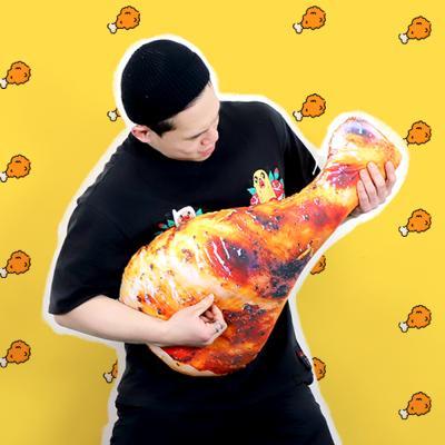 치킨 인형 닭다리 쿠션 70cm 바디필로우 베개