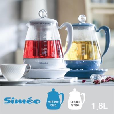시메오 지니 스마트 티포트 1.8L DK-600 (옵션: 빈티지블루,크림화이트 택1)