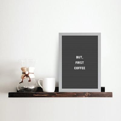 A4 블랙 레터보드 DIY 세트 - 화이트,그레이Frame