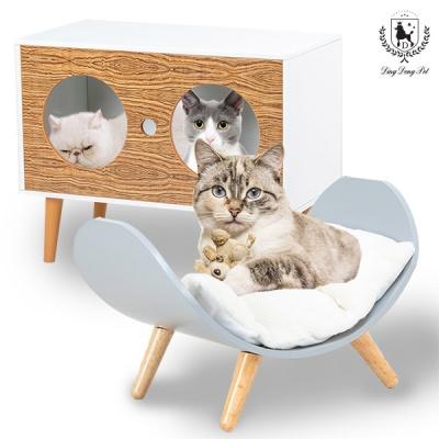 [딩동펫]고양이 하우스 하이그로시 원목하우스