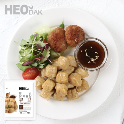 [허닭] 닭가슴살 한입 큐브 떡갈비 100g